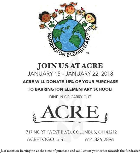 Dine and Donate at Acre on Northwest Blvd. @ Acre